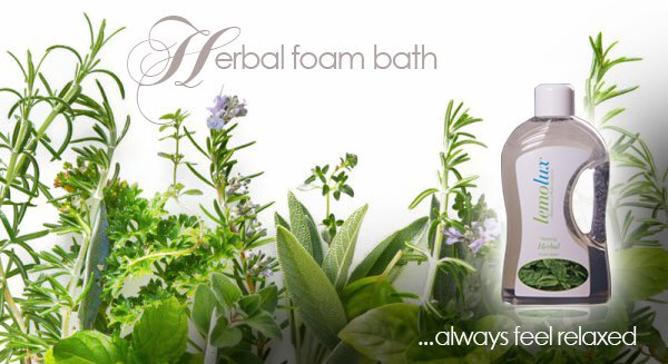 Tensions is who you think you should be, Relaxation is who you are, experience that with our Lemolux Herbal foam bath for pure satisfaction