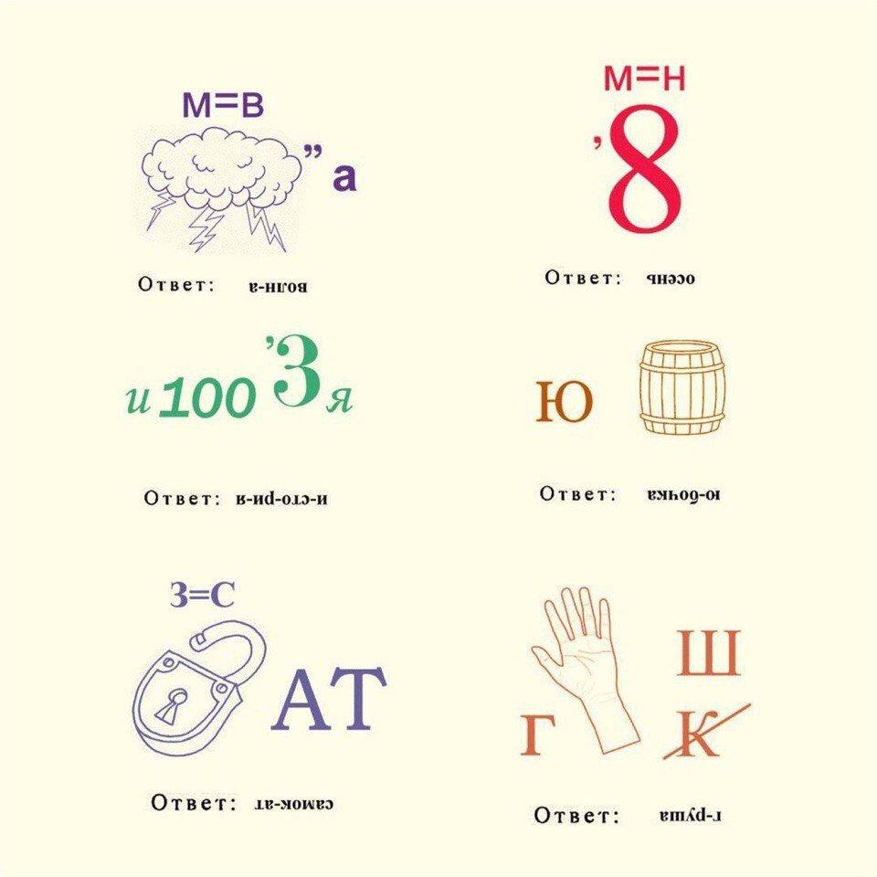 Ребусы для дошкольников с ответами картинки