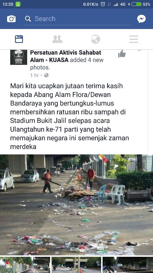 Dah 71 tahun pun tak reti buang sampah kat tong sampah ke UMNO? https://t.co/WoL8jHn4Tv