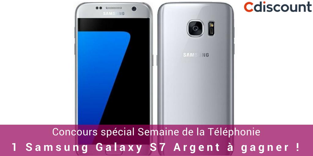 [#Concours] Gagnez le Samsung Galaxy S7 Argent avec  ! RT + Follow pour participer 📱 ➡️  TAS le 19https://t.co/YkiLpjZUSG-05