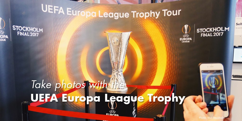 We're honoured to be having the @EuropaLeague Trophy @ Stockholm Visitor Center today and tomorrow! Come by and take a photo! Sergels Torg 3 https://t.co/nPKjD9NTY8