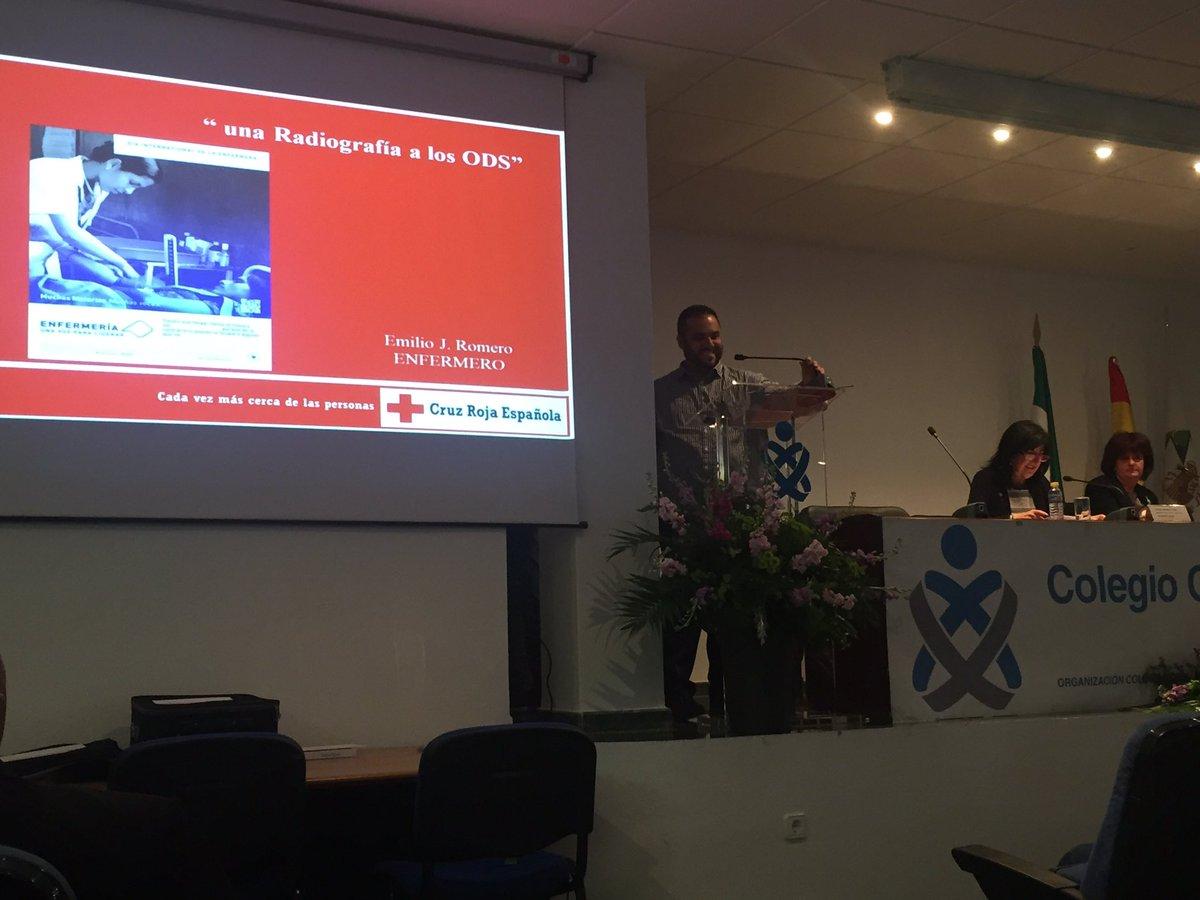 """Nos está gustando mucho la conferencia """"Una radiografía de los ODS"""" de Emilio J. Romero, delegado Internacional @CruzRojaEsp @CruzRojaEx"""