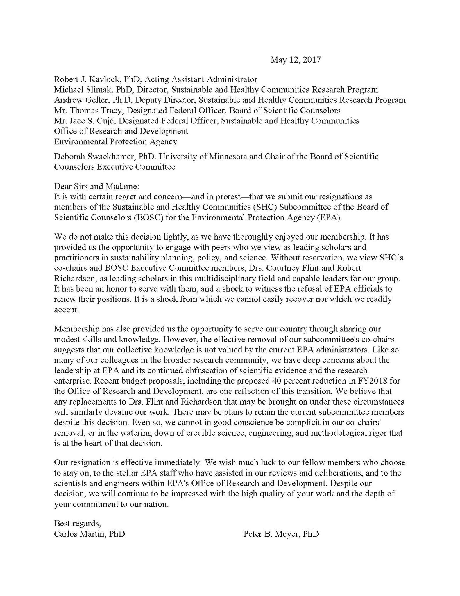 Scientists resign from epa in protest sierra club national scientists resign from epa in protest aljukfo Images