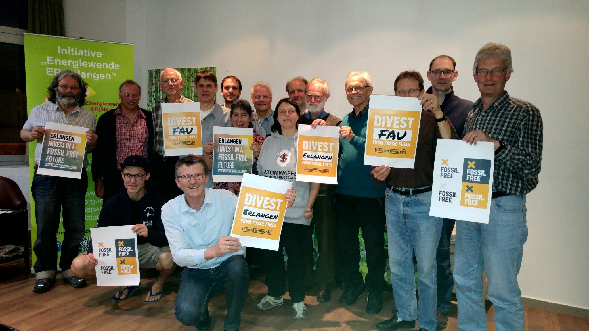 Ein toller Abend in #Erlangen zur Globalen #Divestment Mobilisierung. Auch dort bald kein Geld mehr für Kohle, Öl und Gas. #FossilFree https://t.co/yyu2kZ5s0J