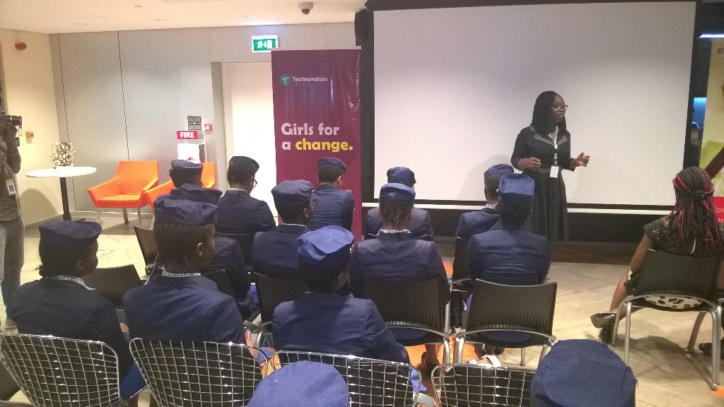 RA @Pamsylala giving the welcome message @technovation Regional celebration Lagos Nigeria @MicrosoftNG https://t.co/tGFQQbcZP5
