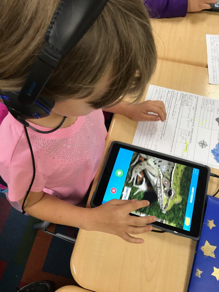 2nd graders researched NC frogs & shared by app smashing w/ @ChatterPixIt Keynote & iMovie. @lcpsnc #BanksBEST https://t.co/a1LuqNBkUX