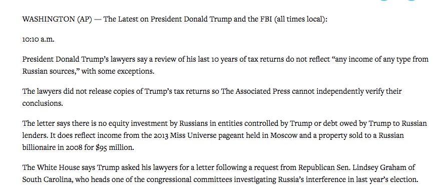 "Matt Viser on Twitter: ""Trump's lawyers releasing letter, not tax ..."