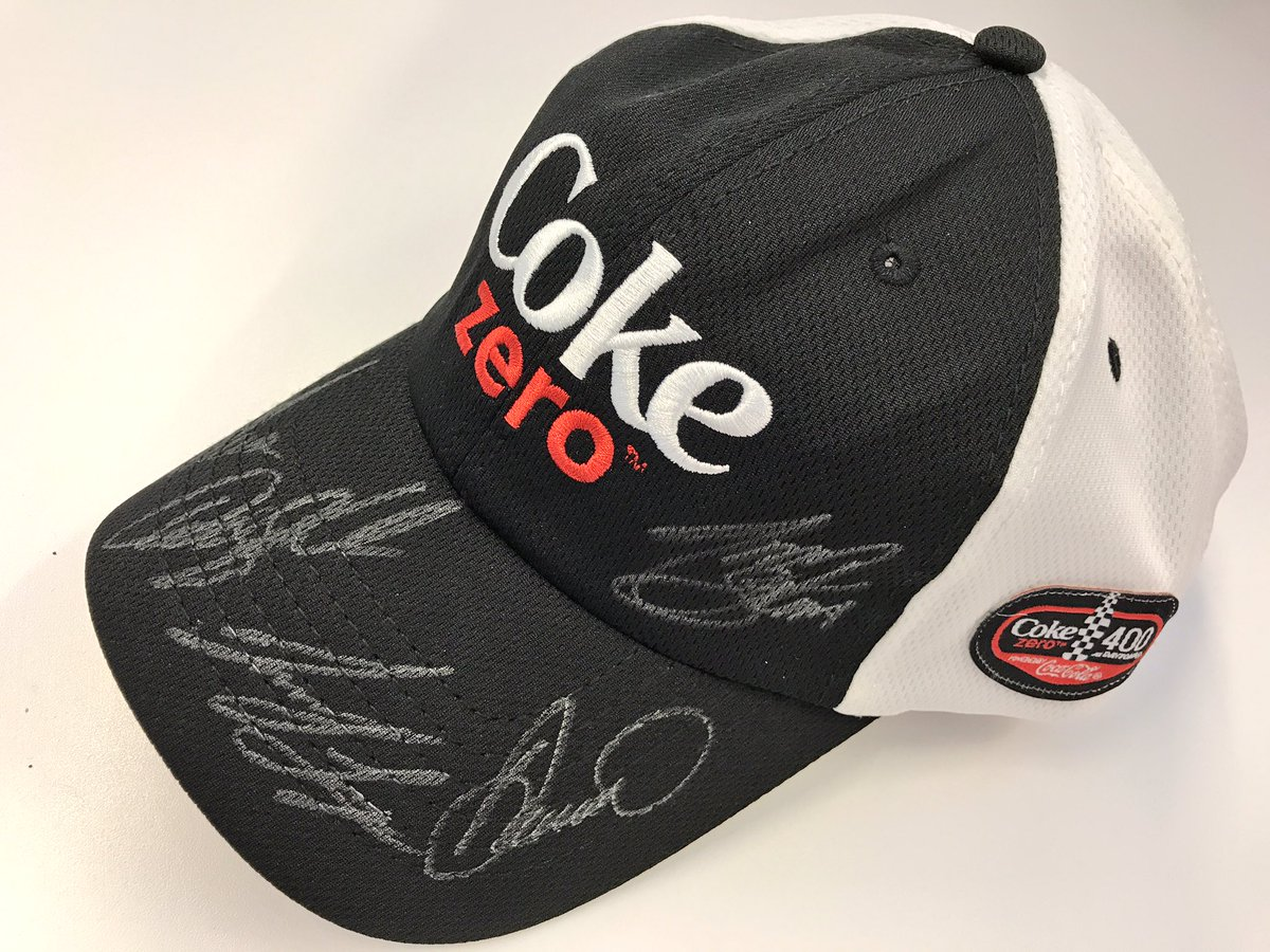 50 days until the #CokeZero400 & we're celebrating with a giveaway!   RETWEET for a chance to win this signed hat! Winner picked at 7 pm ET!