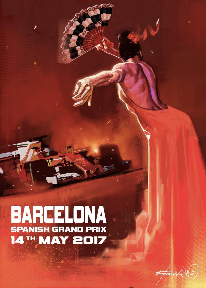 Travel Poster Spain Barcelona 014