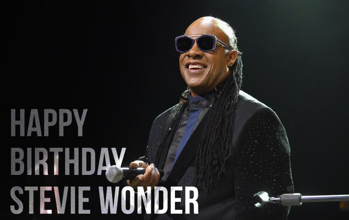 """I just called to say\"" Happy 67th Birthday Stevie Wonder"