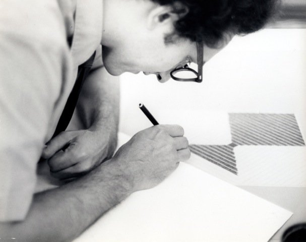 """The prints are in all of my work.\""   Happy Birthday to Frank Stella!   Photo © 1967 Sidney B. Felsen"