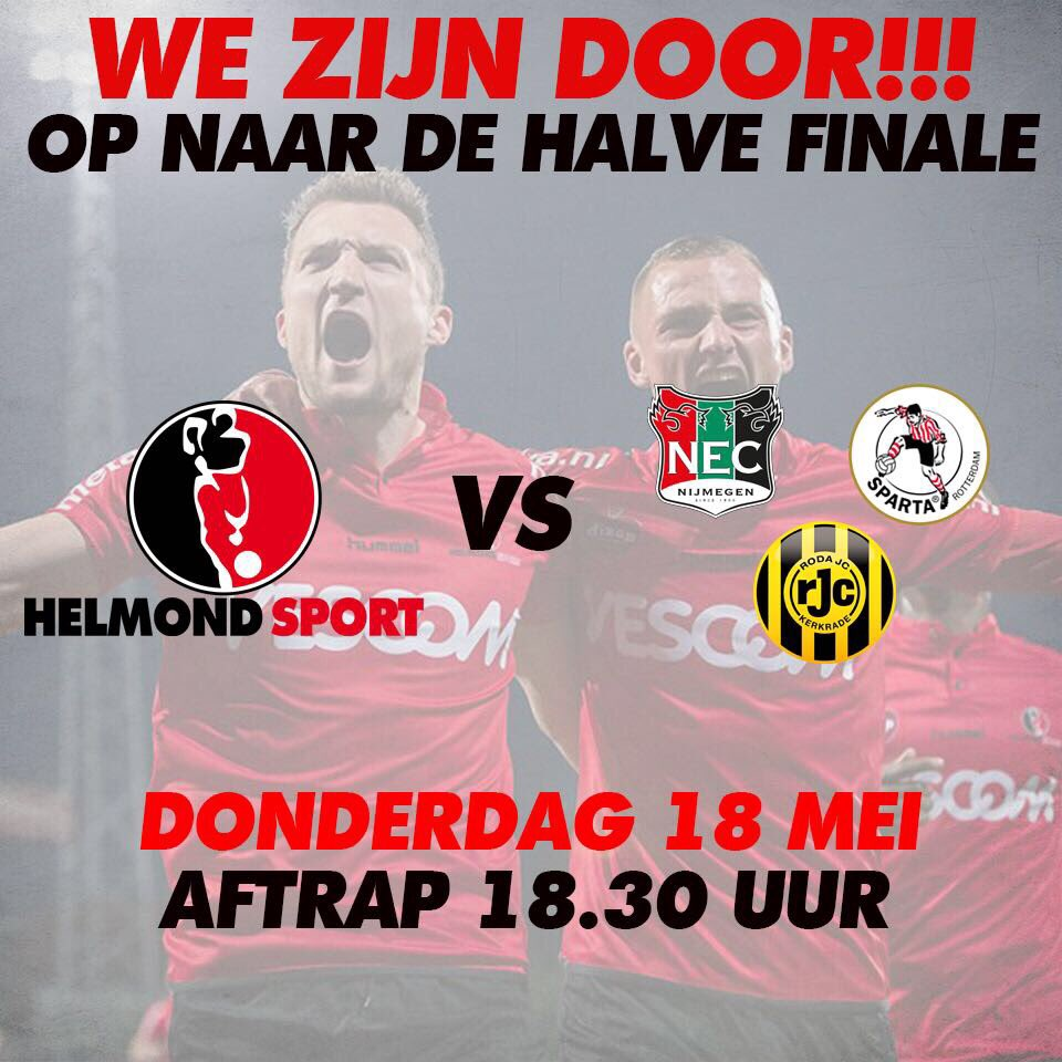 We staan in de halve finale van de Play-Offs! Door een 0-2 overwinning op Almere City! (6-2 totaal) #almhel https://t.co/CqHEcwc0xn