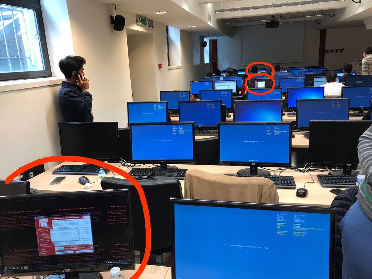 WannaCry sui computer dell'Università di Milano-Bicocca