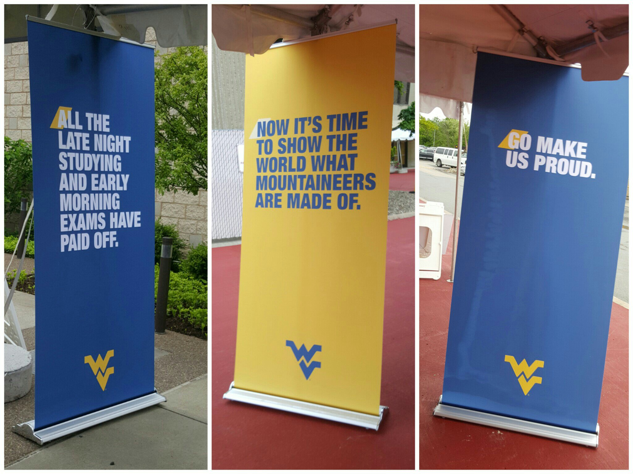 Thanks for hyping us for the celebration as we walked to the ceremony, @wvuimc #WVUgrad https://t.co/WWti8y2loD