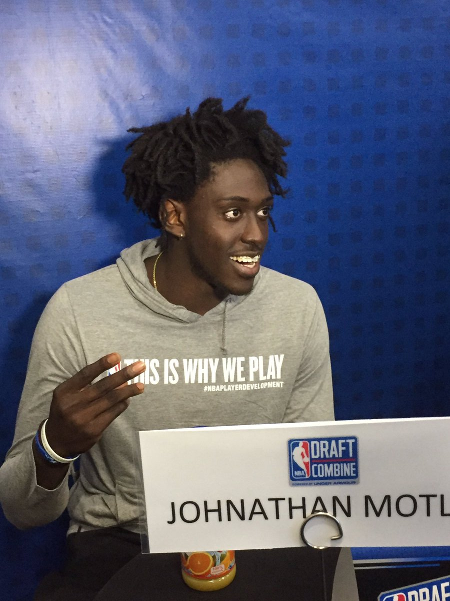 J-Mot also graduated today but the NBA Draft Combined needed him there...