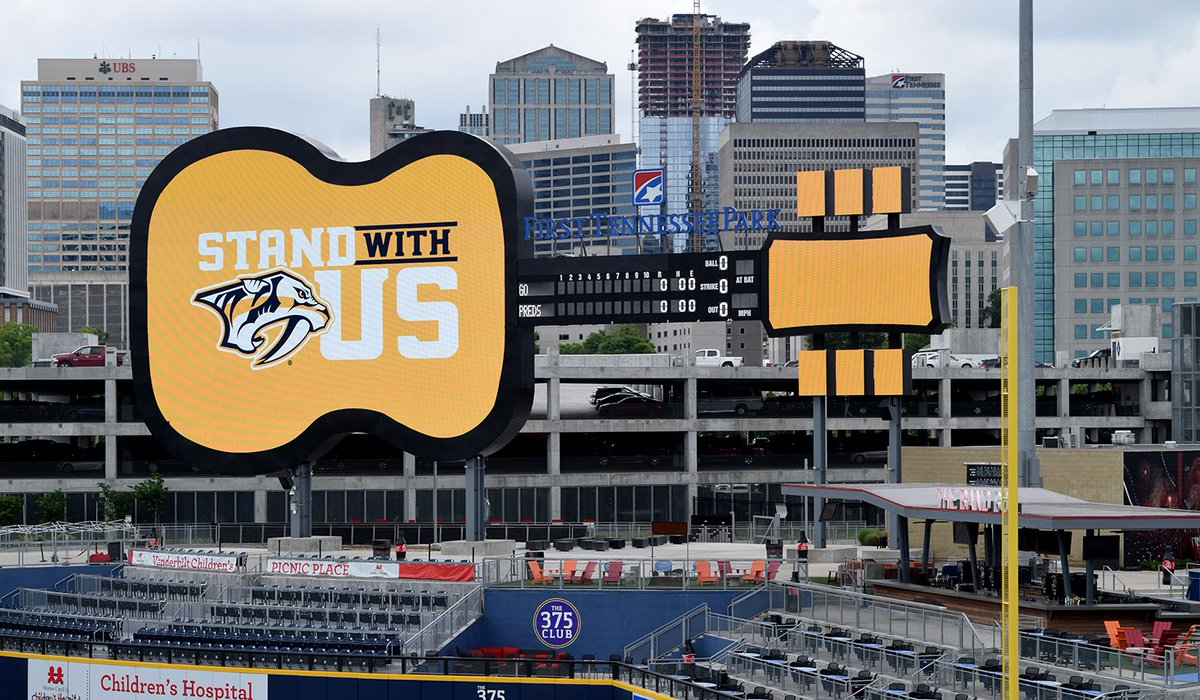 From one #Nashville team to another, good luck to the @PredsNHL as the #WCF gets started tonight! #StandWithUs https://t.co/ESDNDs1QmH