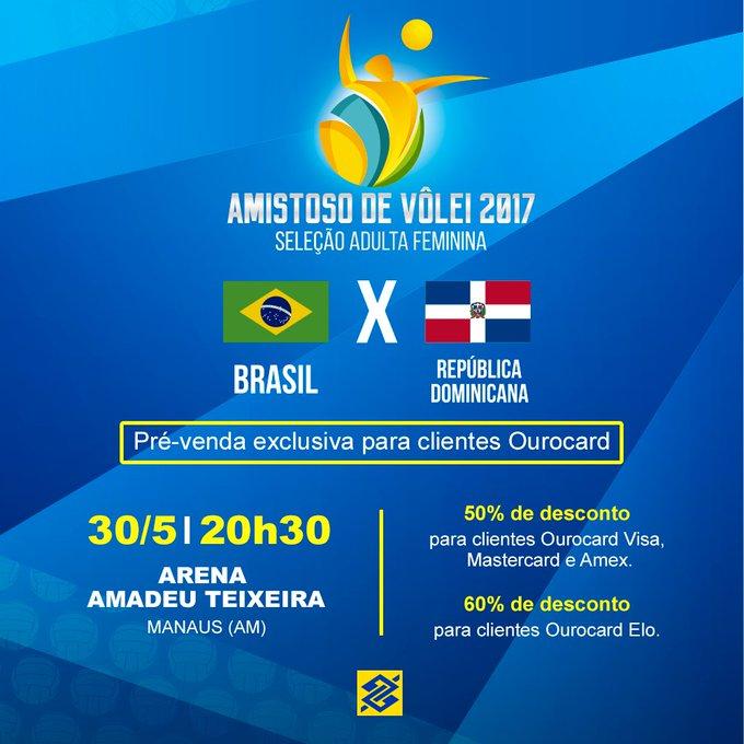 📢 Alô, #TorcidaBrasil de Manaus! A Seleção está chegando para a disputa de um amistoso. 🏐 A pré-venda já começou. https://t.co/V5USclYQbk