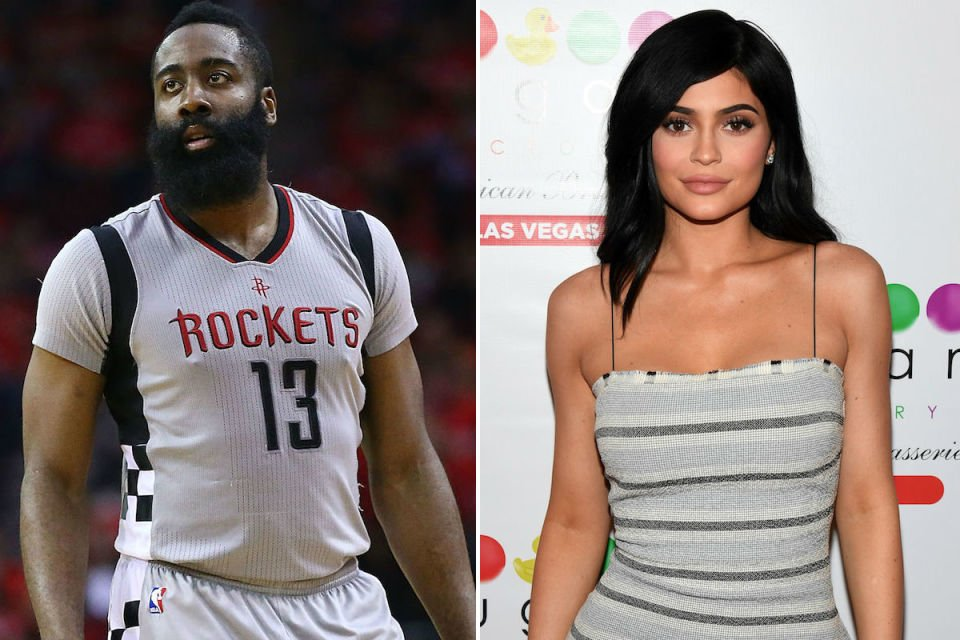 james harden parties with kylie jenner hits strip club