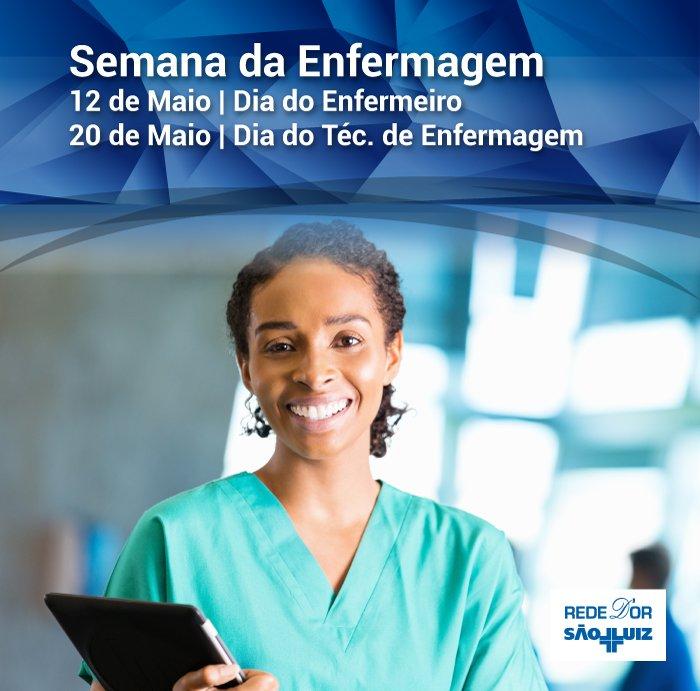 Parabéns a toda a equipe de enfermagem, que se dedica à recuperação de nossos pacientes, proporcionando bem-estar e tranquilidade! #RedeDOr