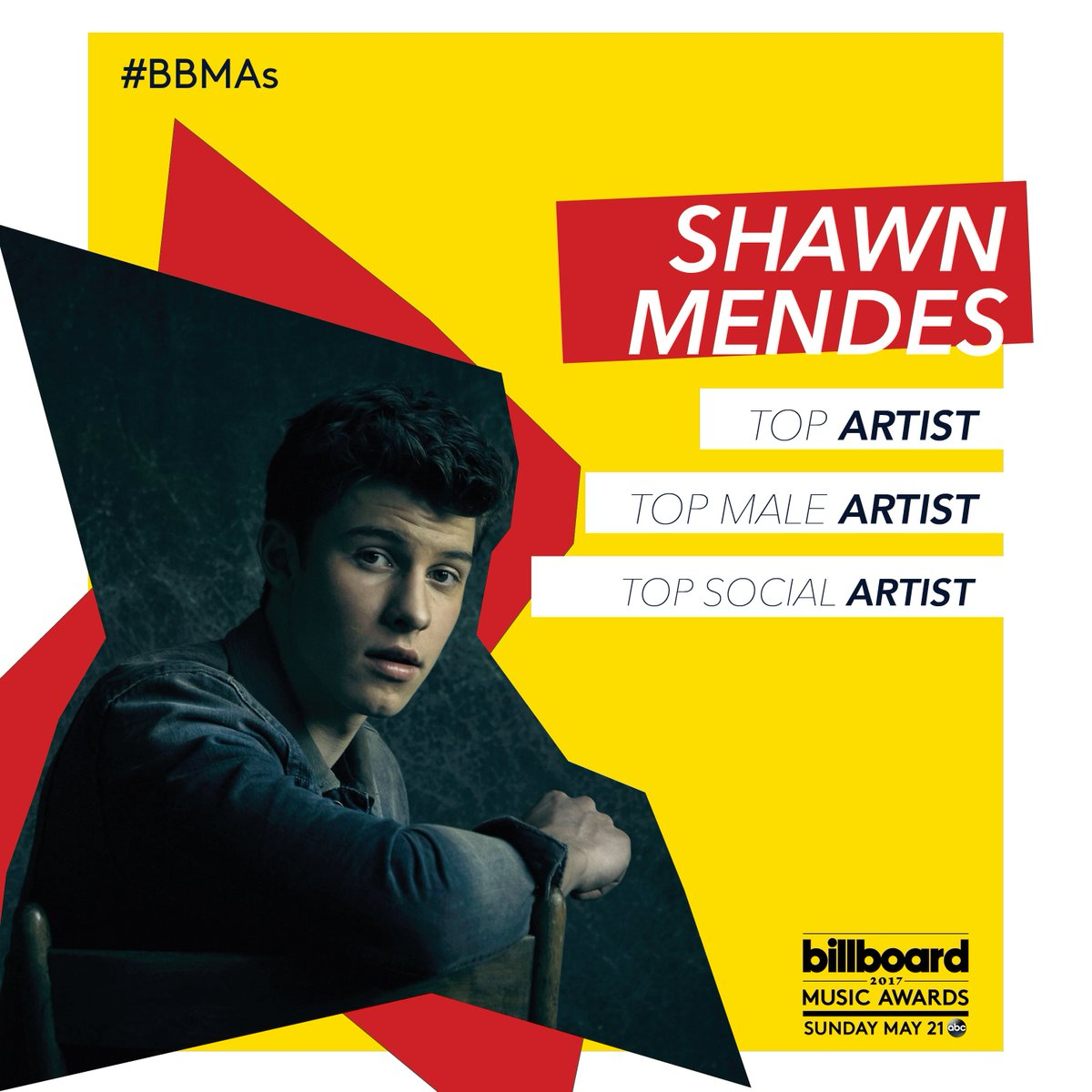 Congratulations to @ShawnMendes on THREE nominations at the #BBMAs! 🔥