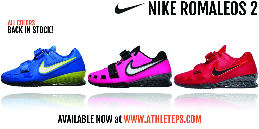 Nikeweightlifting  Romaleos 2 back in stock in all sizes.Get them at  http   www.AthletePS.com free US shipping now!pic.twitter.com TbhKRBOE3v d827aee8ba