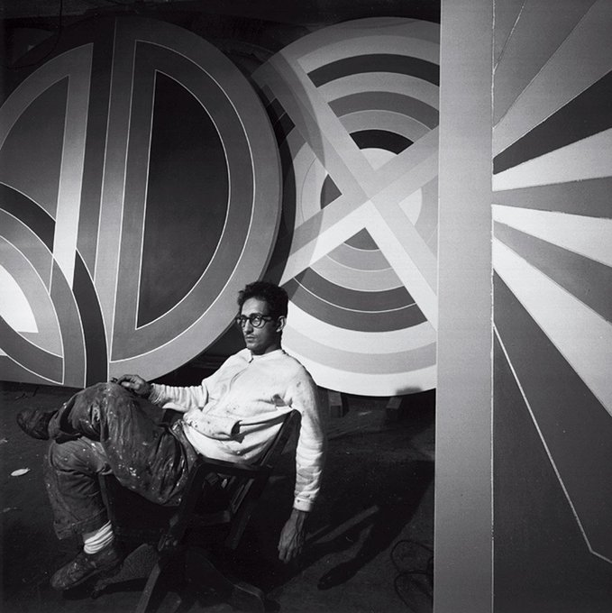 """What you see is what you see\"" Happy Birthday Frank Stella! Born on this day in 1936."
