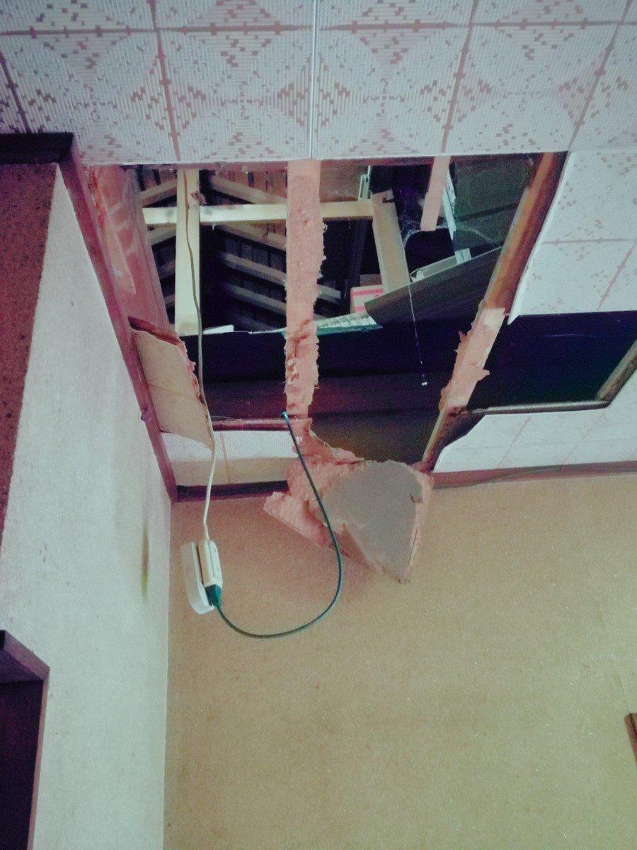 こちら私が落ちた天井ですご確認宜しくお願いします