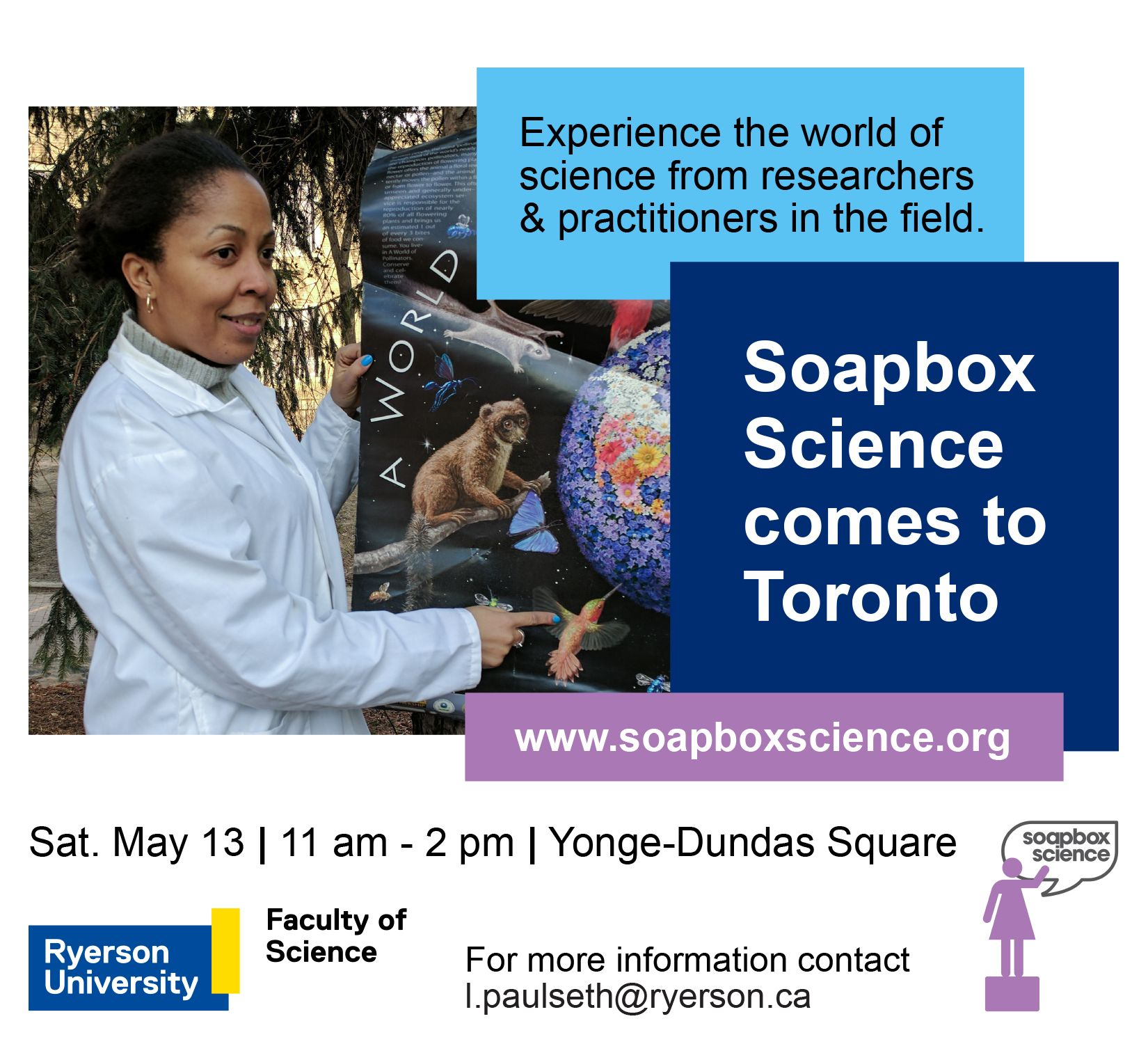 We're so excited to bring @SoapboxScience to Canada & empower #youth to explore #Science https://t.co/vY2p3KdWYQ #soapboxsciTO @RyersonSci https://t.co/t68w0xc0tj