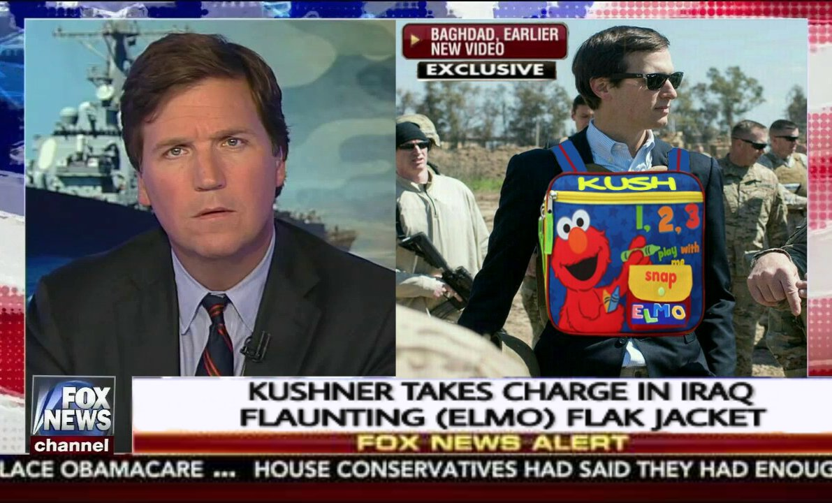 This is just too good! #Kushner #privilege #Tucker #FwordNetwork #FullMetalElmo #TickleMeElmo <br>http://pic.twitter.com/Ykx5aYogvc
