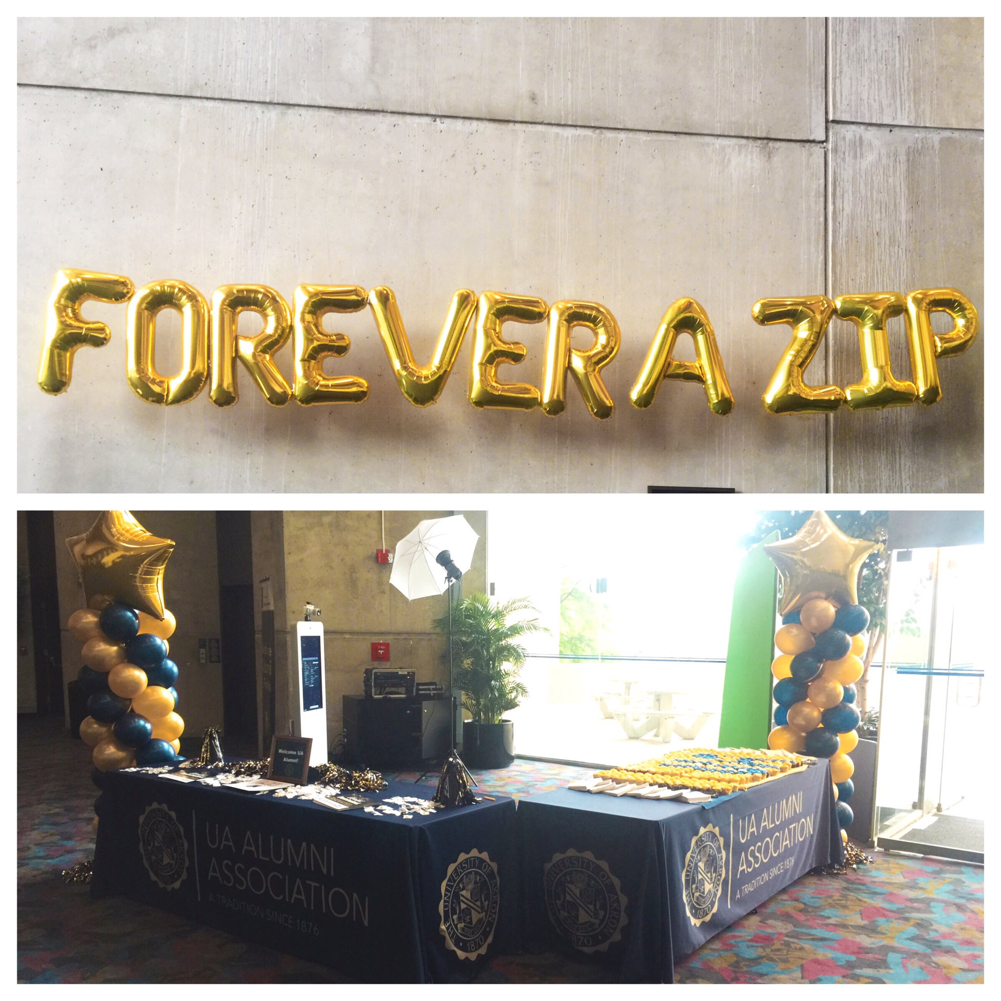 We are all set up! If you're at graduation, be sure to stop by! Congrats class of 2017! #ForeveraZip https://t.co/RdrxbA5WoR