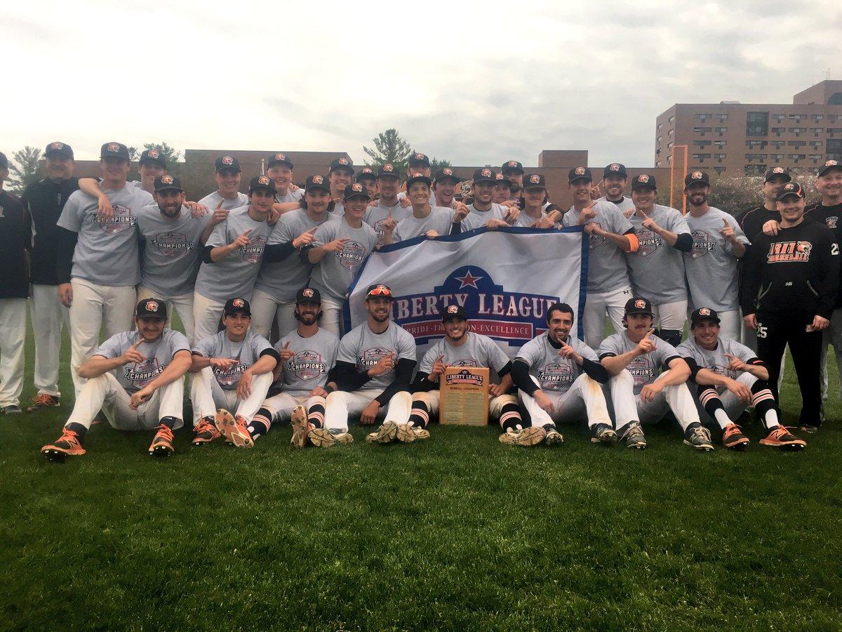 Your 2017 @LLAthletics Baseball Tournament Champion: @rit_baseball! https://t.co/2l6fV24Z38