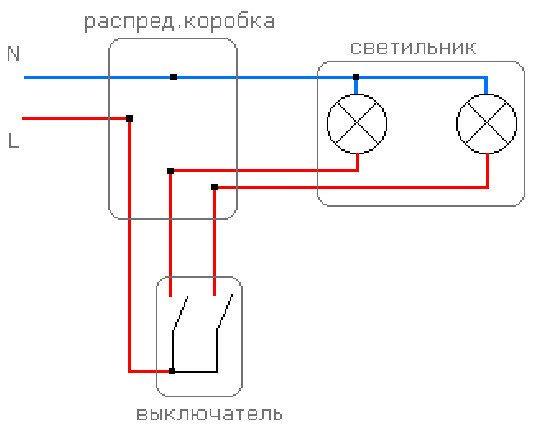 схема подключения противотуманок через реле на ланос