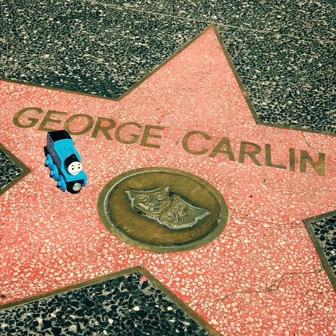 Happy birthday to Thomas narrator George Carlin!