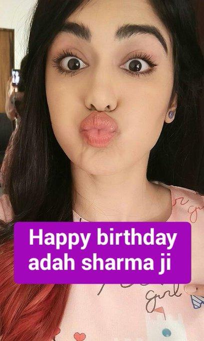 happy birthday to you adah sharma ji
