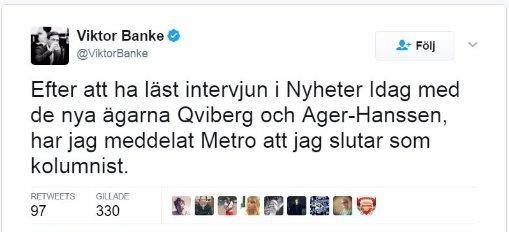 @ROGSAHL @ElisabetEnell1 @anderslindberg Nu när till och med Viktor Banke läser Nyheter Idag. https://t.co/FHi7DifST5