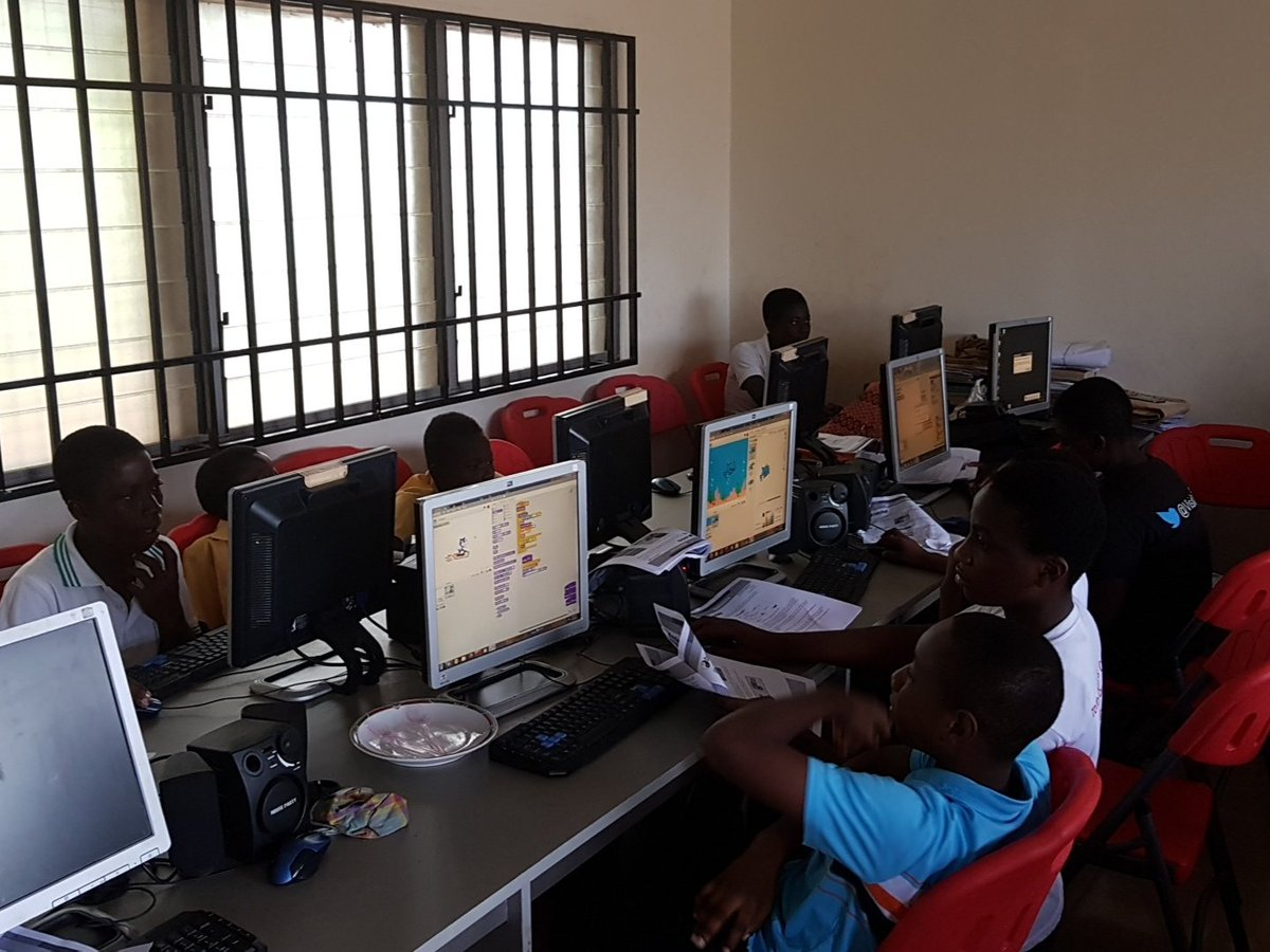 Airtel Ghana working with kids on #CodeDojo using #scratch Ofcos .@iSpaceGh loves the kids  #coding #buildingGames<br>http://pic.twitter.com/kzqSwgsT6B
