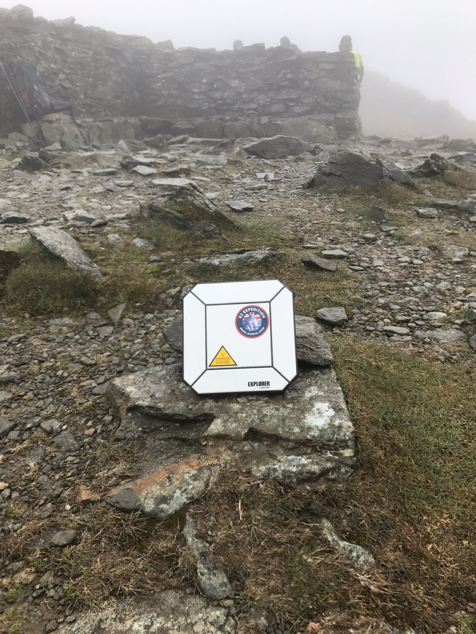 The @arqiva #SummitSelfie point has made it to the top of Helvellyn! #cumbrianchallenge https://t.co/UeTYWPT8MQ