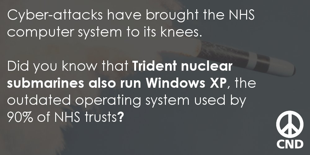 Do you know where else Windows XP is used? #CyberAttack https://t.co/Ve2trUYbZM