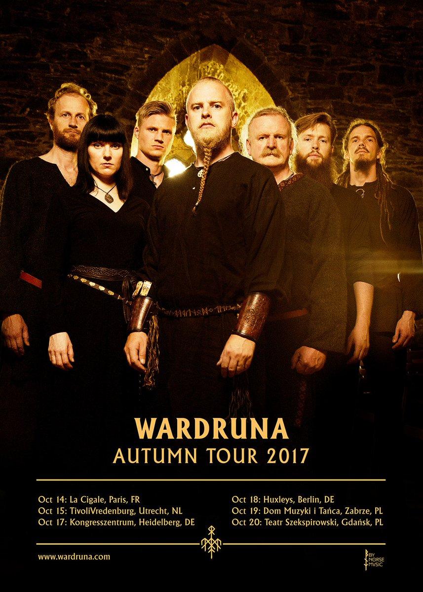 In October Wardruna will go on a short European tour. http://wardruna.com/news/