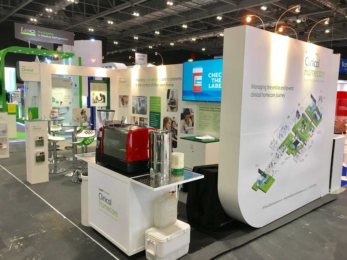 w3 design on twitter our stand for lloyds pharmacy at the clinical