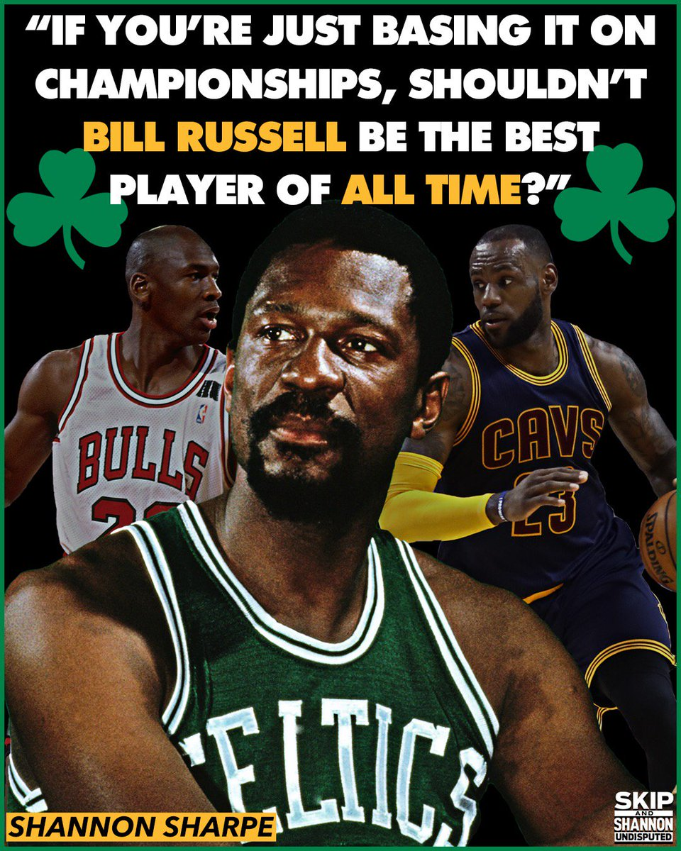 UNDISPUTED On Twitter LeBron James 3 Rings Michael Jordan 6 Bill Russell 11 RT If You Agree With Shannon