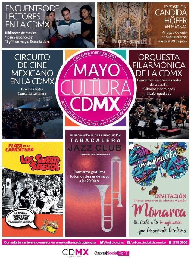 ¡Mayo es el #MesMuseosCDMX! Aprovecha la oferta de actividades culturales y artísticas #LaGuíaCDMX https://t.co/zLO0dvF7tR