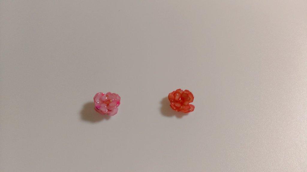 test ツイッターメディア - セリアの作ってみた。ちょっとうまく花びら作れんかったけど、ラメとか入れたらそれなりに可愛くできた! これいいと思う。 #レジン  #セリア https://t.co/ed1jPlY78L