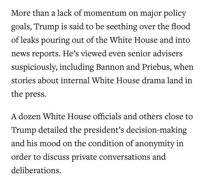 Trump is mad about leaks from his White House, according to leaks from his White House https://t.co/at7Omma6Yw