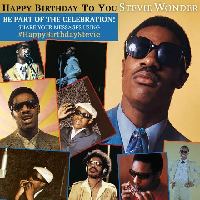 Happy Birthday to legendary Motown artist Stevie Wonder