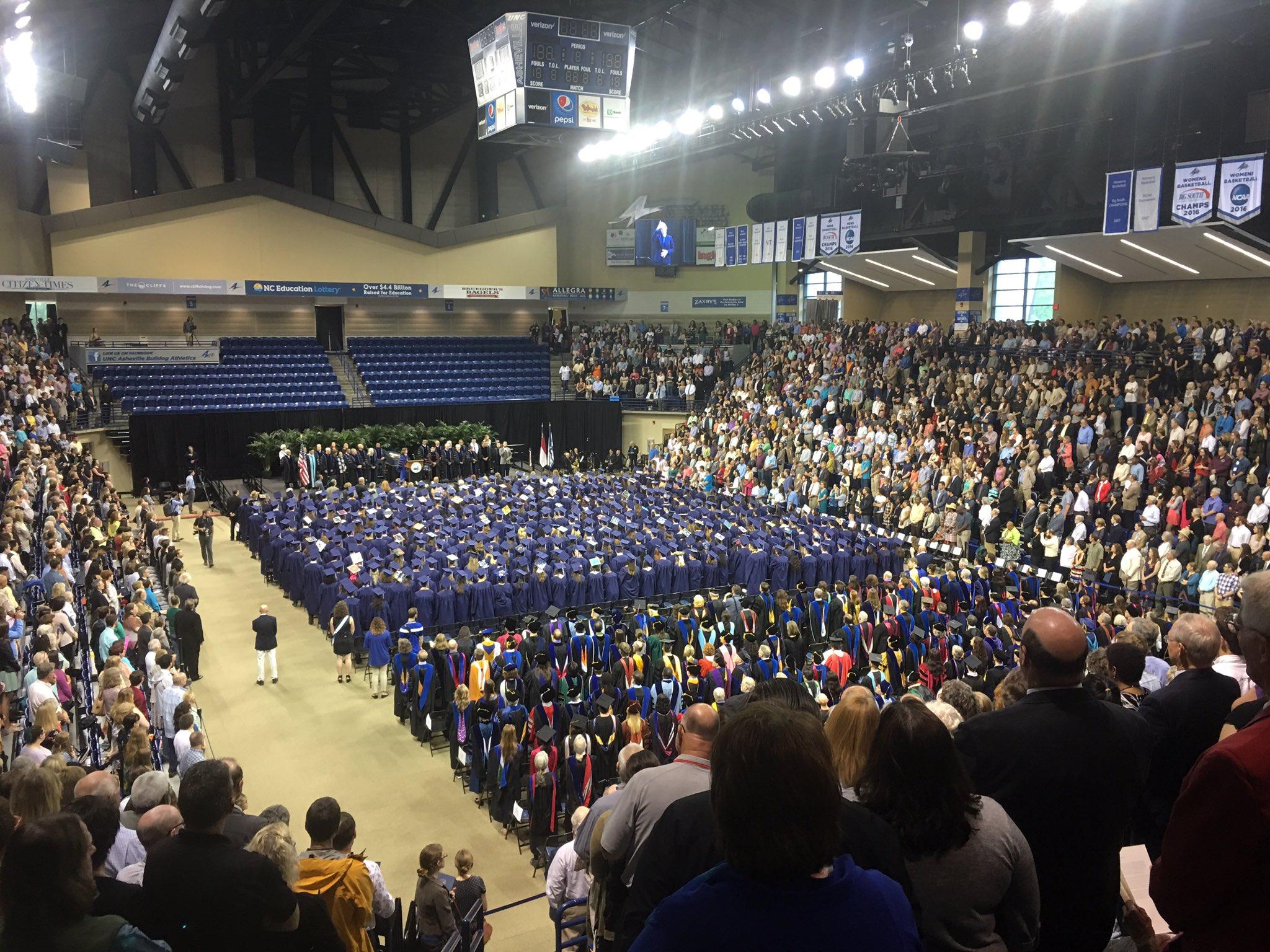 This is what #ThePursuit is all about. We could not be prouder of our 35 @ashevilledogs @UncAvl graduates #NCAAGrads #uncavl2017 https://t.co/TRN876StRm