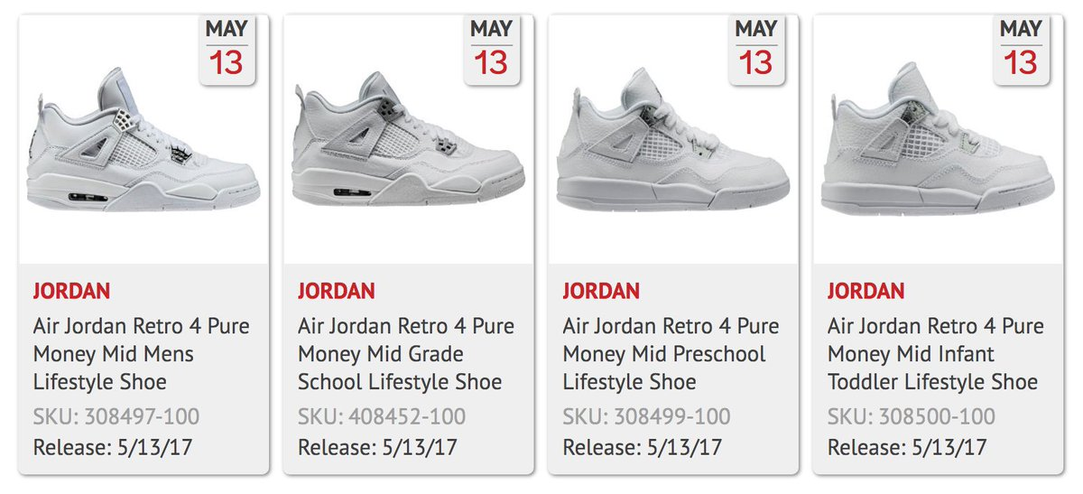 6fda0c3a41c4fa ... spain j23 iphone app on twitter pure money jordan 4 retro on shoe  palace in full