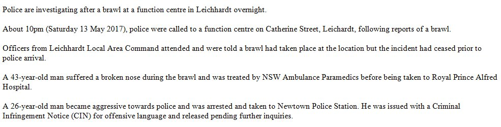 Police are investigating after a brawl at a function centre in Leichhardt