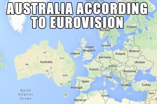 Lot of people ask why Australia is in #Eurovision. The explanation is simple - BECAUSE EUROVISION SHUT UP https://t.co/YMYDzjxA96