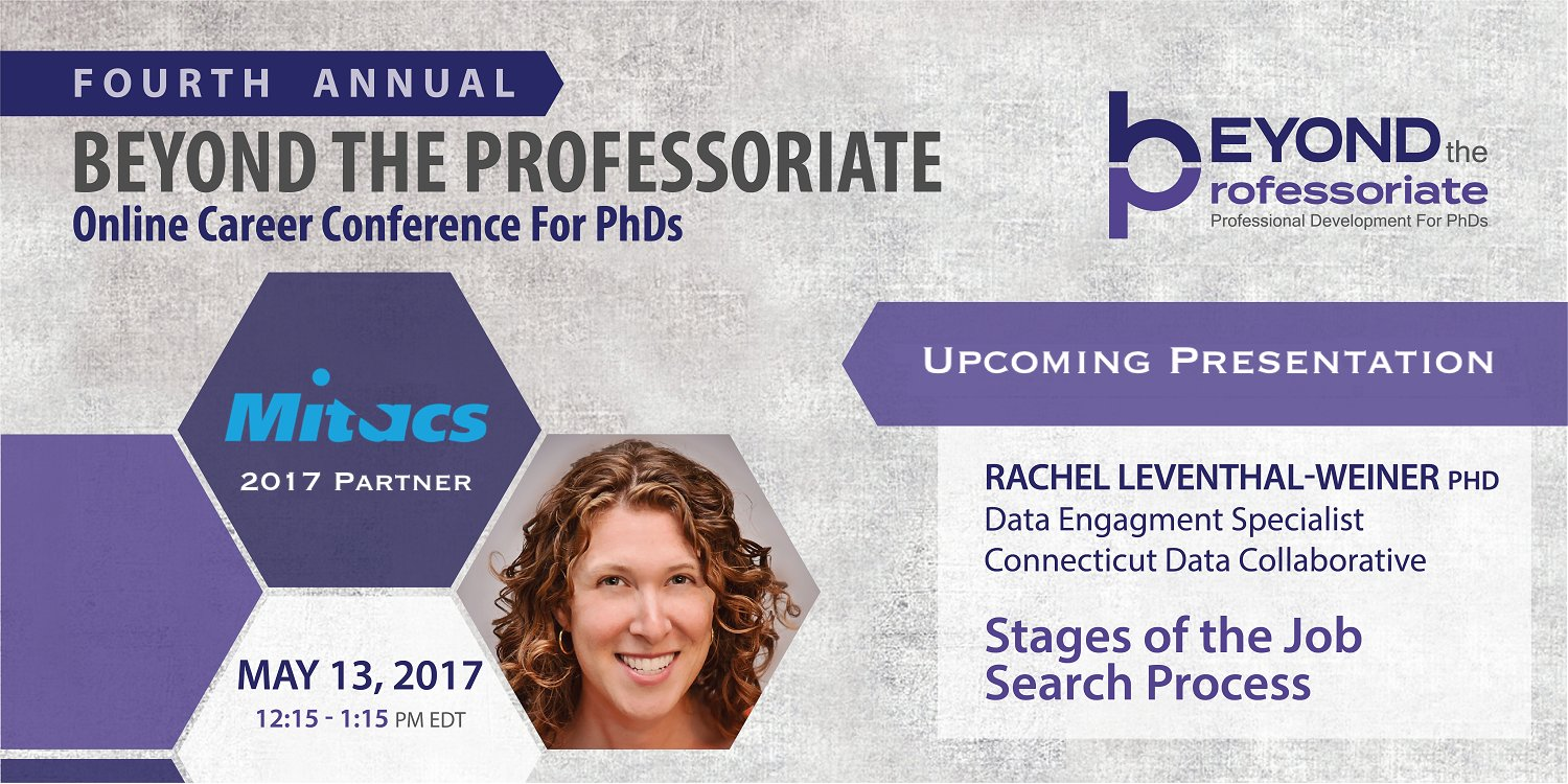 """Our next panel """"Stages of the Job Search Process"""" with @rglweiner is starting! Join us live to ask Rachel questions #beyondprof https://t.co/bRsosPK5n4"""